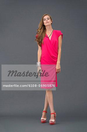 Portrait of a fashion model posing