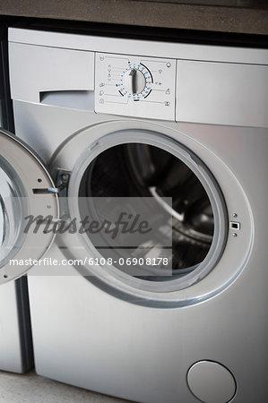 Close-up of a washing machine