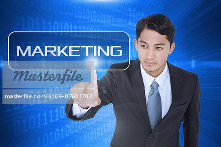 Marketing against futuristic shiny binary code