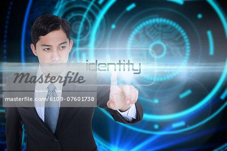 Identity against futuristic technological background