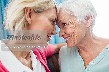 Nurse taking care of a senior woman