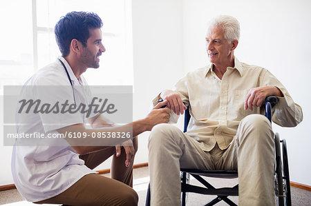Nurse taking care of a senior man