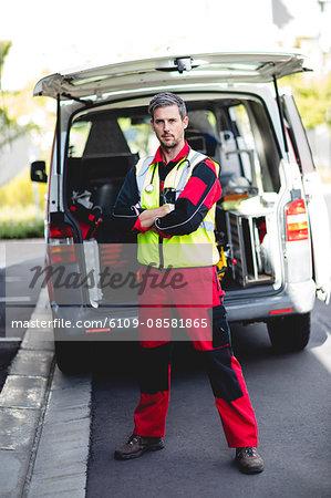 Portrait of ambulance man