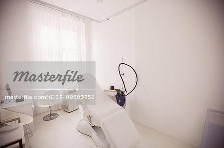 Empty dentist office in dental clinic