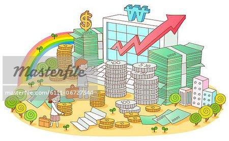 Illustration on financial concept