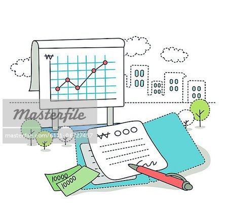 Representation of financial growth