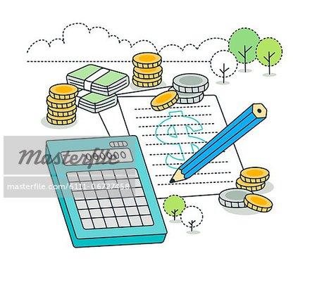 Calculation of economic finance