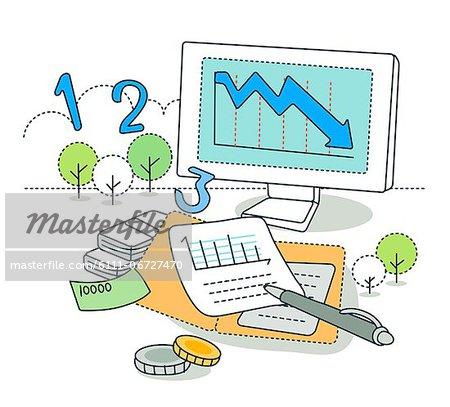 Illustration of business loss