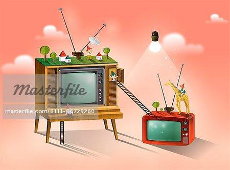 People On Television Set