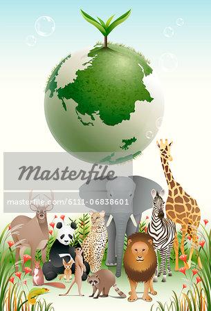 An illustration representing the impact of environmental damage.
