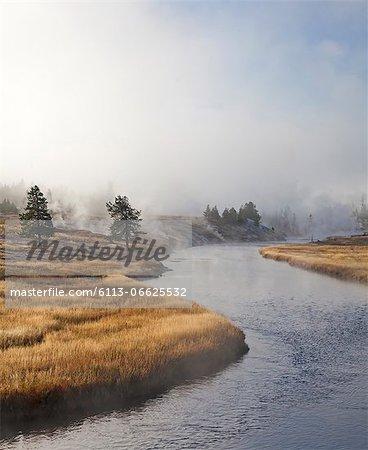 River winding through rural landscape