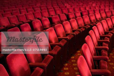 Empty seats in theater auditorium