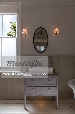 Sink in luxury bathroom