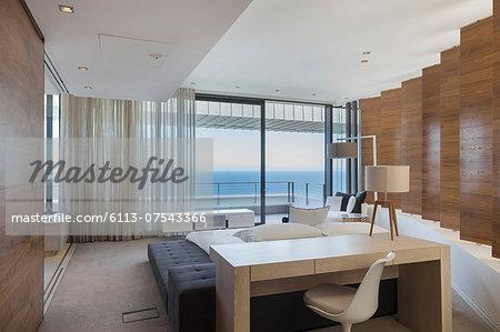 Bedroom in modern house