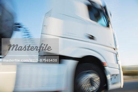 Semi-truck on the move
