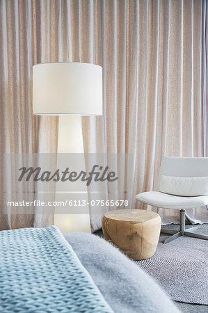 Lamp in modern bedroom