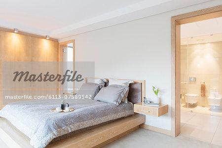Luxury bedroom and ensuite bathroom