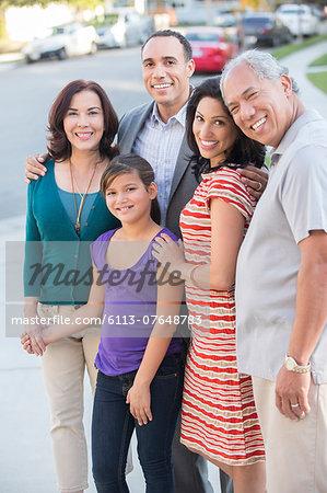 Portrait of happy multi-generation family