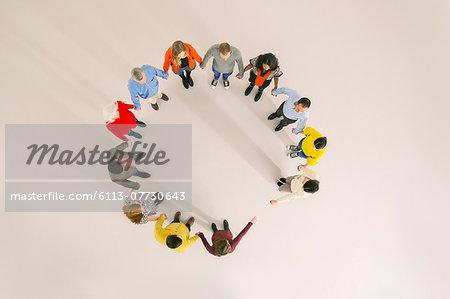 Diverse group forming circle