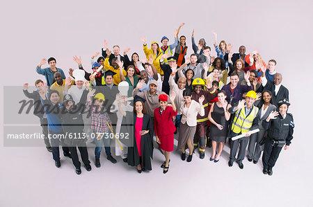 Portrait of diverse workforce