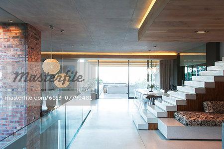 Open modern living space