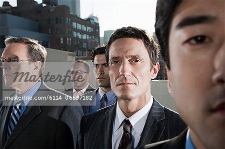 Businessmen in city