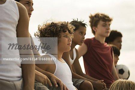 Boys with football