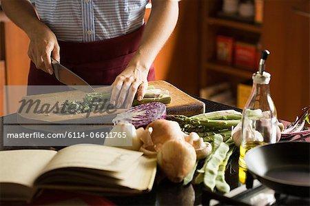 Person preparing vegetables