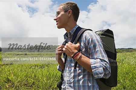 Young man on trek