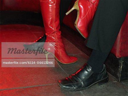 Strip tease view of feet