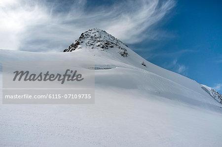 Snowcapped mountain top, European Alps, Tyrol, Austria