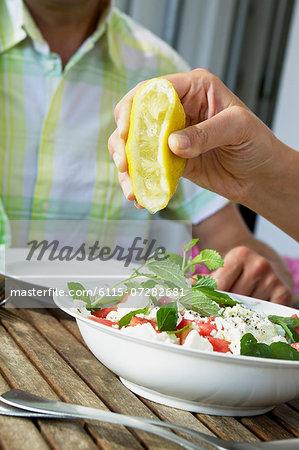 Couple Eating Fresh Melon Salad