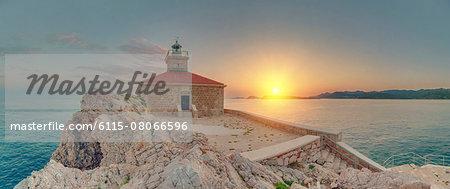 Lighthouse at sunset, Greben, Dubrovnik