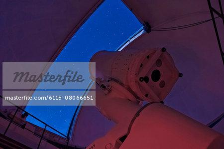 Observatory and starry sky, Visnjan, Istria, Croatia