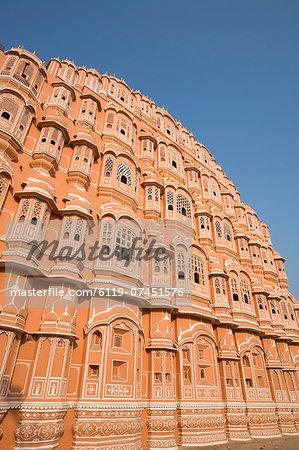 Palace of the Winds (Hawa Mahal), Jaipur, Rajasthan, India, Asia