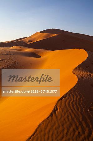 Sand dunes, Sahara Desert, Merzouga, Morocco, North Africa, Africa