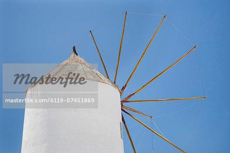 Windmill, Oia, Santorini, Cyclades, Aegean Sea, Greek Islands, Greece, Europe