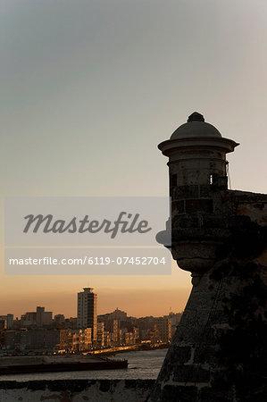 El Morro fortress at sunset, Havana, Cuba, West Indies, Central America