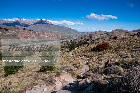 Trek up to Mount Fitzroy from El Chalten, UNESCO World Heritage Site, Santa Cruz Province, Patagonia, Argentina, South America