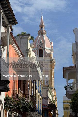 The Walled City (Ciudad Amurallada), UNESCO World Heritage Site, Cartagena, Colombia, South America