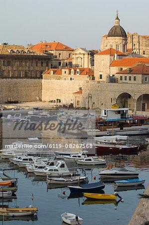 Boats in Harbour, Dubrovnik, Croatia