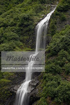 Horsetail Falls, Valdez, Alaska, United States of America, North America