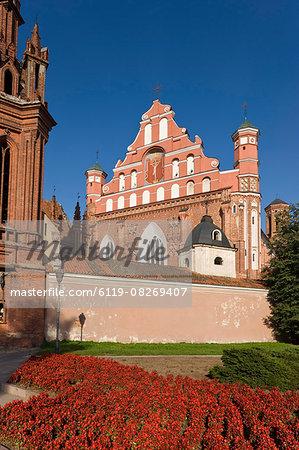St. Francis and Bernardine Church, Vilnius, Lithuania, Baltic States, Europe