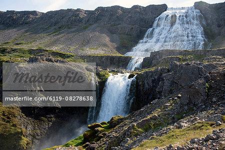 Dynjandi (Fjallfoss) waterfall, West Fjords, Iceland, Polar Regions