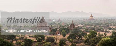 Bagan (Pagan) Buddhist Temples and Ancient City, Myanmar (Burma), Asia