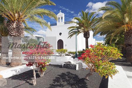 Iglesia de San Isidro Labrador church, Uga, Lanzarote, Canary Islands, Spain, Europe