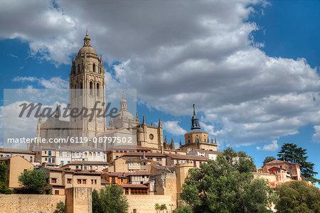 Nuestra Senora de la Asuncion y San Frutos Cathedral, Segovia, UNESCO World Heritage Site, Castile y Leon, Spain, Europe