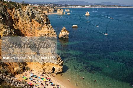 Steps leading to beach, Praia do Camilo, Lagos, Algarve, Portugal, Europe