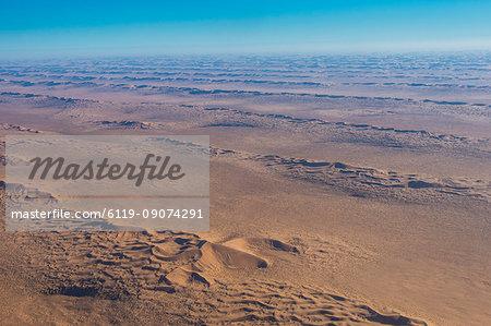 Aerial of sand dunes in the Namib desert, Namibia, Africa