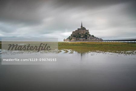 Mont-St-Michel, UNESCO World Heritage Site, Normandy, France, Europe